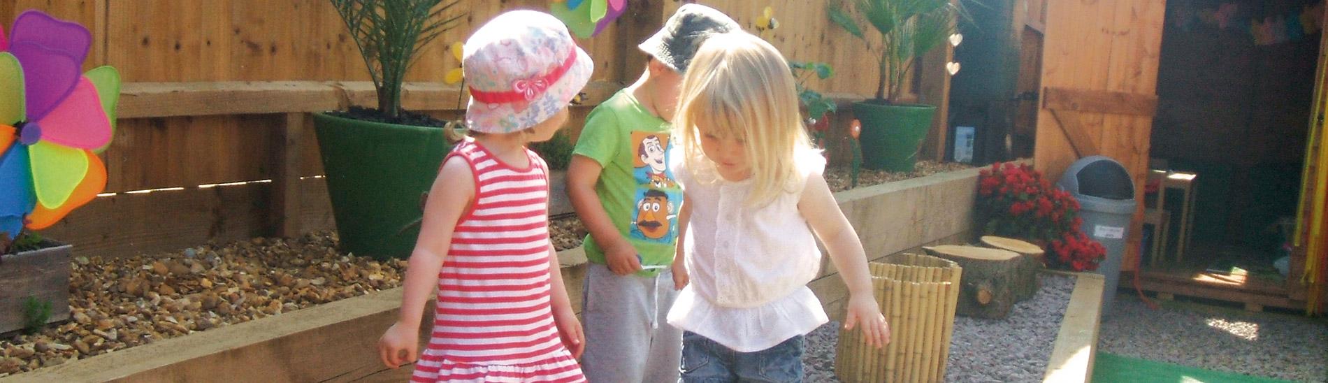 Daycare garden play