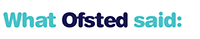 what Ofsted said about Rockinghorse Nursery